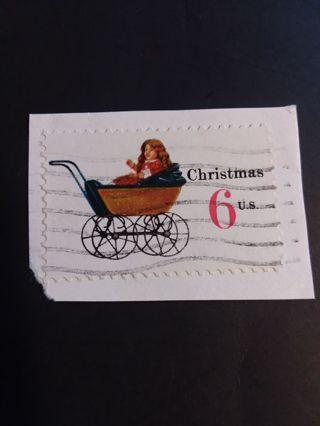 Christmas Stamp 6c postmarked
