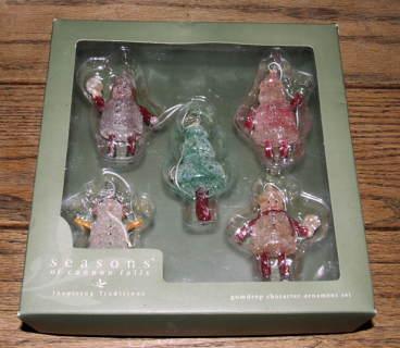 Free: Vintage Set of 5 Gumdrop Ornament Set Cannon Falls of ...