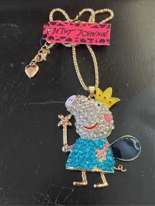 Betsey Johnson Fairy Pig Necklace