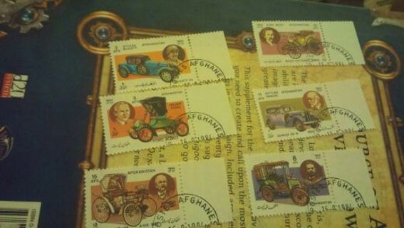 Afghanistan 6 stamps 1984