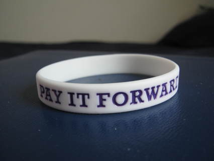 Free Pay It Forward Rubber Bracelet