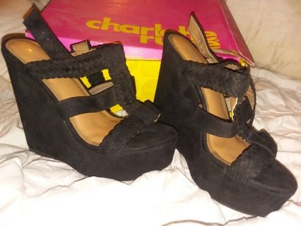 Super cute Women's size 8 Charlotte Russe brand shoes / wedges