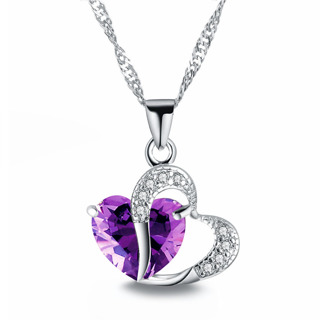 Hot Cakes Top Class lady Fashion Heart Pendant Necklace Crystal jewelry New Girls Women