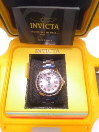 New, Invicta Women's Grand Driver Automatic 4.32ct Black Spinel Bezel Bracelet Watch