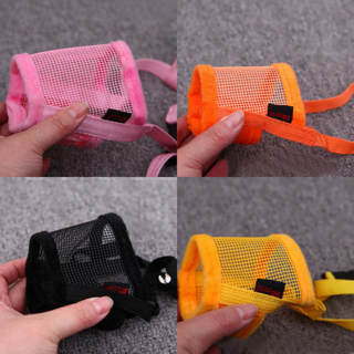 [GIN FOR FREE SHIPPING] Dog Mesh Net Safety Adjustable Breathable Muzzle Stop Biting Barking