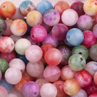 30Pcs Mixed Natural Stone Gemstone Round Spacer Loose Beads