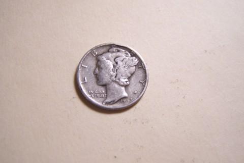 Silver 1942 Winged Liberty Head Mercury Dime