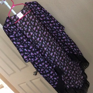 Juniors Medium Floral Cover Up