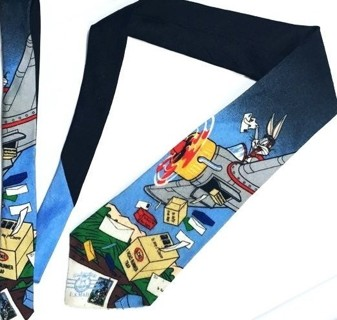 VINTAGE 1997 BUGS BUNNY LOONEY TUNES WARNER BROTHERS USPS COLLECTIBLE STAMPS TIE FREE SHIPPING
