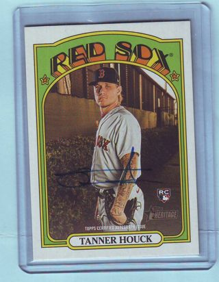 2021 Topps Heritage Tanner Houck AUTOGRAPH Baseball Card # ROA-TH Red Sox