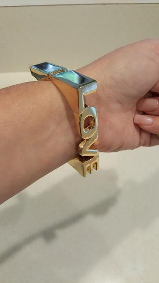 Beautiful gold metal LOVE bracelet!