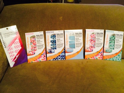 sally hansen nail polish strips salon editions limited edition lot!!! Hard to find!  Lot number 1