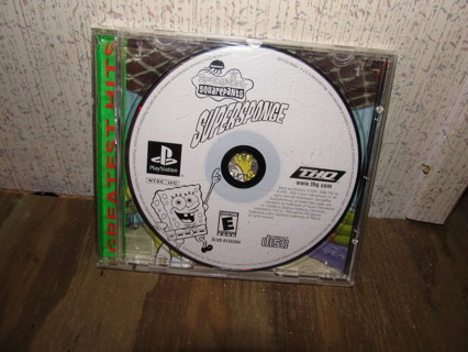 SpongeBob Squarepants SuperSponge Greatest Hits/PS1 Game