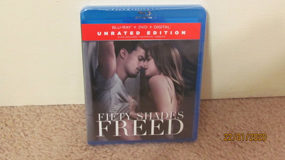 Fifty Shades Freed Blu-Ray, New in Package