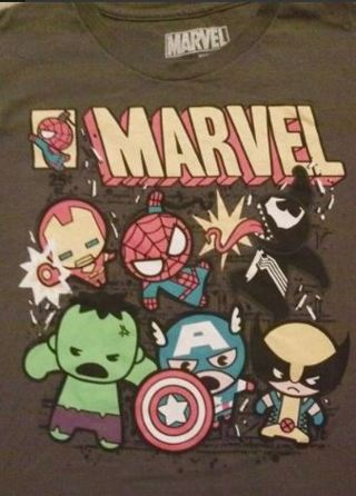 CUTE Marvel Comics Shirt FREE SHIPPING