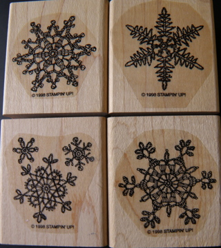 ♥ LACE SNOWFLAKES ~ Stampin' Up! Rubber Stamp Set