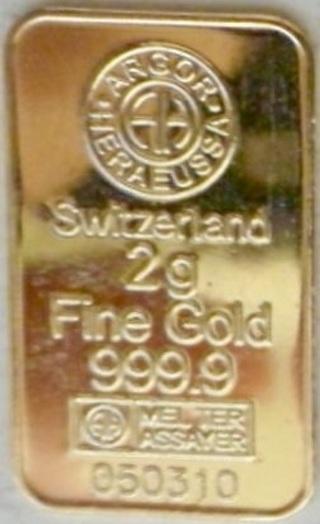 2g gold bar