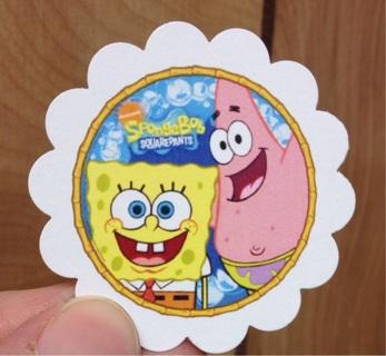 30 SpongeBob SquarePants Scalloped  Treat Tags