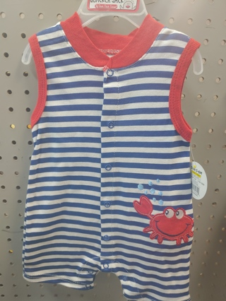 Nwt! Baby Boys Romper Size 6-9 mth