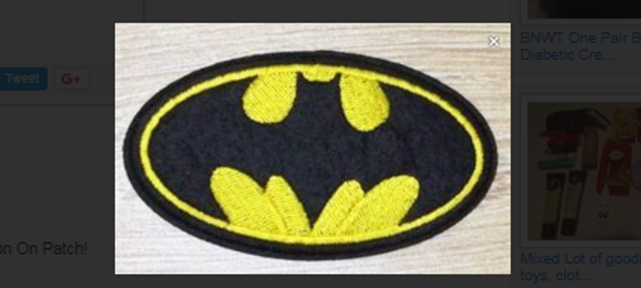 1 BATMAN Symbol Logo IRON ON Patch DC Clothing accessories Embroidery Applique USA SELLER