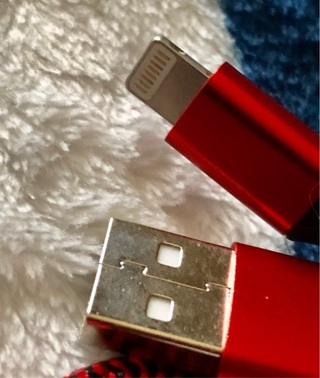 Brand New: 3.0ft MFI Certified Apple Lightening To USB Charger/Data Sync Red Cable. iPhone, iPad..
