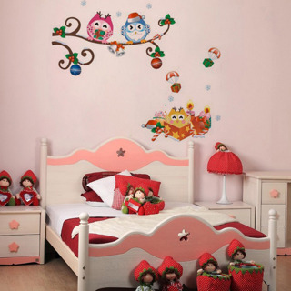 Owl Tree Removable Vinyl Decal Home Decor Art Mural Wall Sticker For Kid Room