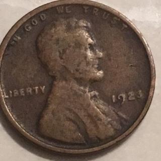 1923 wheat cent