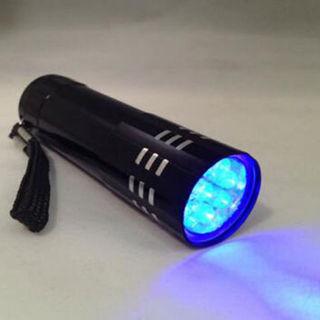 Blacklight New Mini Portable UV Ultra Violet Flashlight Torch Light Lamp 9 LED