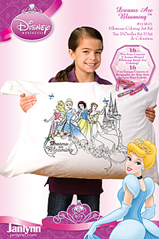 free color your own disney princess pillowcase other craft items
