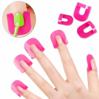 26 PC Manicure Tools for Finger Cover Nail Polish Shield Protector Nail Polish Stencils 10 sizes