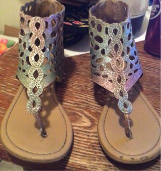 Little Girls mermaid sandals