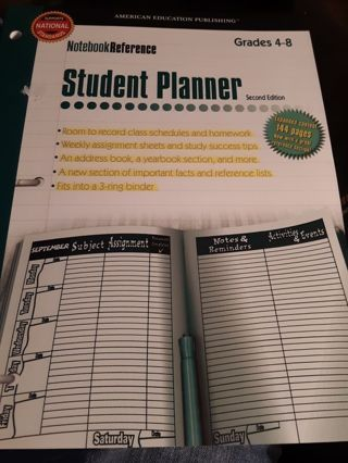 Notebook Reference Student Planner
