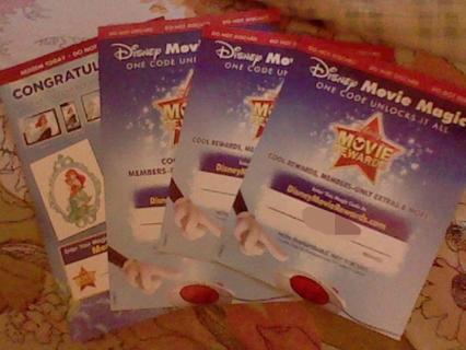 "4 Disney Movie Rewards Codes! + One ""The Little Mermaid"" Digital Copy!"