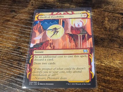 Magic the gathering mtg Thrill of possibility Strixhaven card