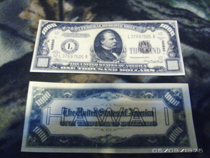 Free: 1934   $1000 dollar bill   lot copy/replica - Coins