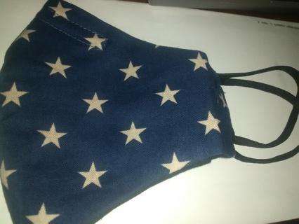 Blue with white stars mast