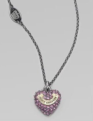 Free juicy couture wish heart necklace new sparkling purple juicy couture wish heart necklace new sparkling purple pave heart aloadofball Gallery