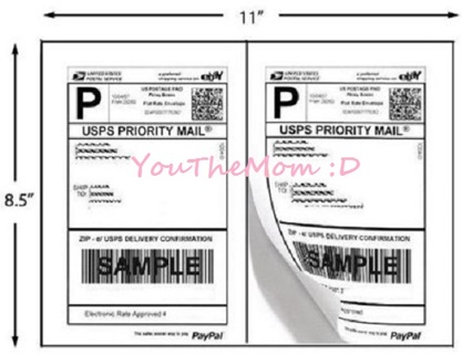Blank 12 1 2 Sheet Labels For Print Postage At Home Usps