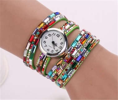 LADIES WATCH WITH COLORFUL BAND