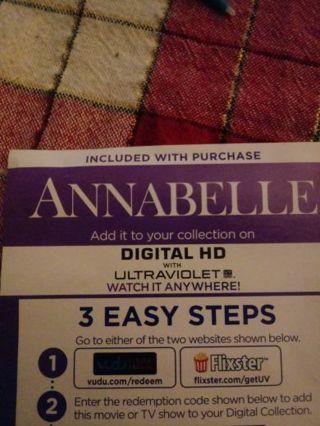 Annabelle VUDU Code