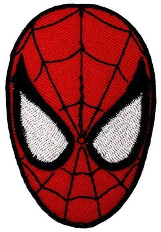SPIDERMAN Head Marvel Iron On Patch FREE SHIPPING
