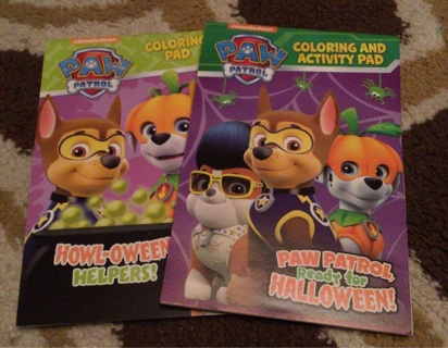 Nickelodeon Paw Patrol Coloring and Activity Books Halloween New