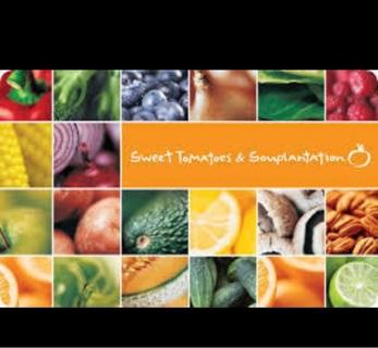 $50 Sweet Tomatoes & Souplantation Gift Certificate! PDF sent! Last lower til I delete.