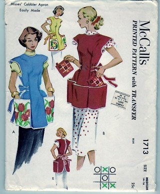 Free: Vintage McCalls 1713 Medium Cobbler Smock Apron Pattern ...