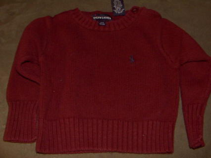 961aca59b Free  Polo Ralph Lauren Baby Boy 3-12M Maroon sweater - Boys ...
