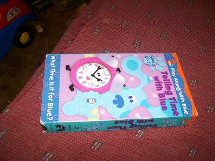free blues clues vhs telling time with blue vhs listia com