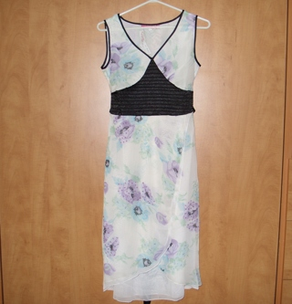 Flowery formal dress New with Tags