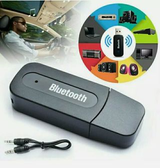 3.5mm AUX To USB Wireless Bluetooth Audio Car Auto Music Receiver Adapter