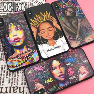 XIX for Funda iPhone X Case 5 5S 6 6S 7 8 Plus X XS Max XR African Girls for Cover iPhone 7 Case S