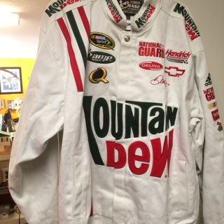 NASCAR Dale Earnhardt Jr Stitched NEW WITH TAGS Mountain Dew XXL Jacket > FREE SHIPPING!